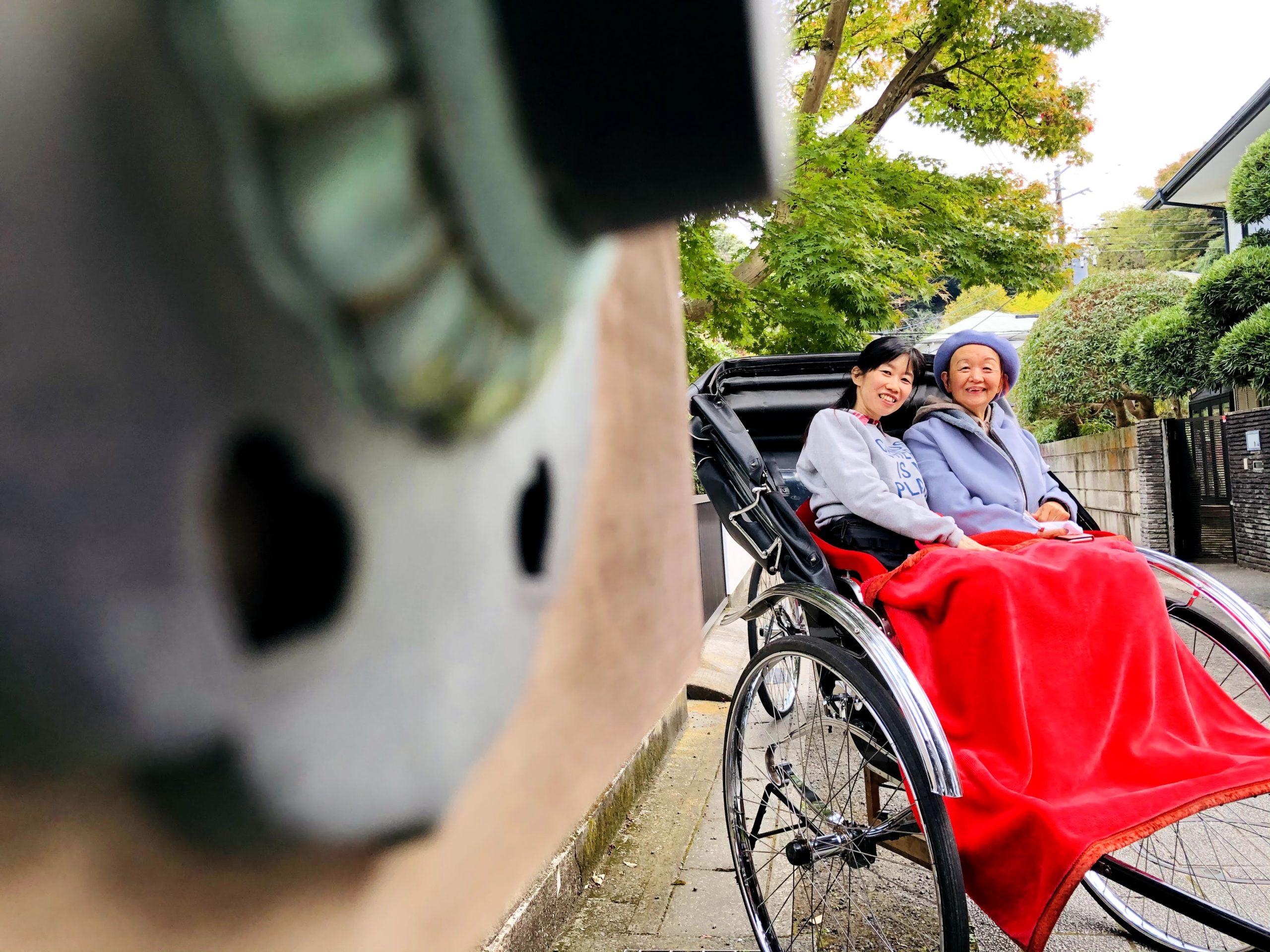 介護付旅行サービス東京さんぽで行く鎌倉人力車観光